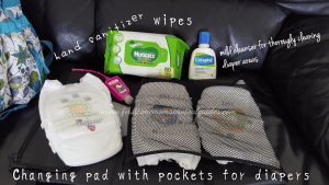 pack diaper bag checklist