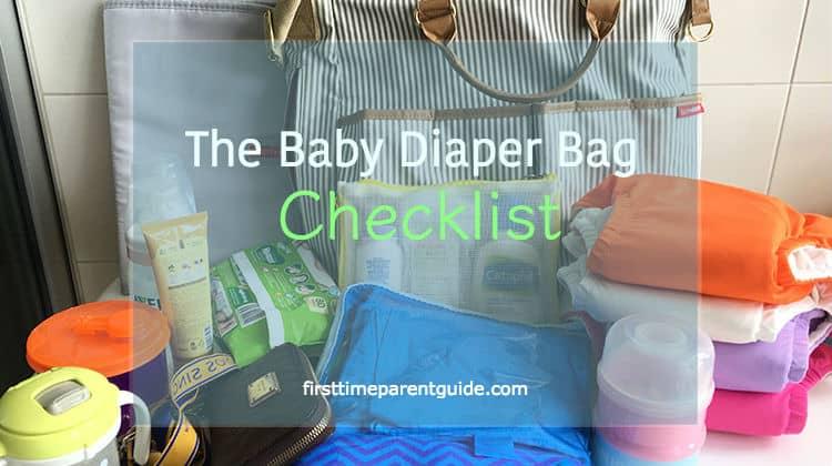 The Baby Diaper Bag Checklist
