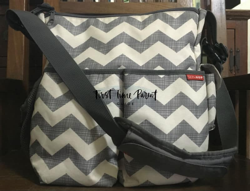 skip hop duo diaper bag chevron