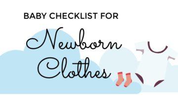 Baby Checklist For Newborn Clothes