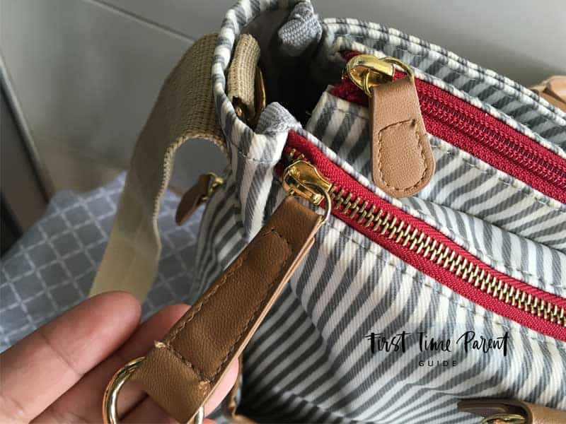 skip hop french stripe duo limited edition diaper bag