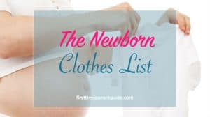 the newborn clothes list