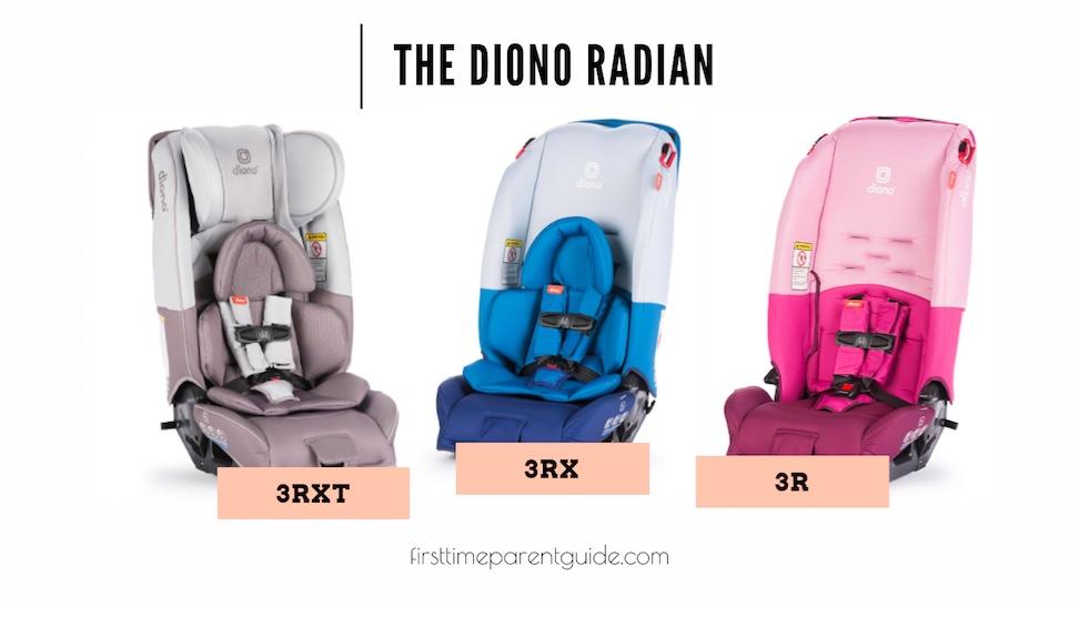 the diono radian 3rxt vs 3rx vs 3r