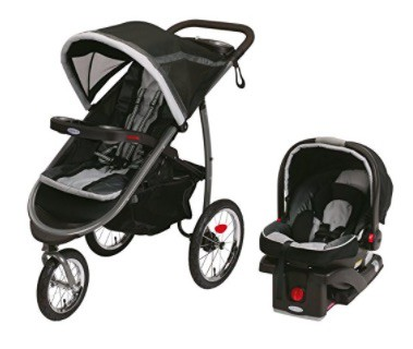 The Graco Fastaction Fold Click Connect Travel System Stroller