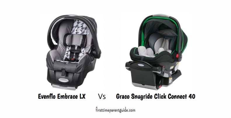 the evenflo embrace lx vs graco snugride 40. Black Bedroom Furniture Sets. Home Design Ideas
