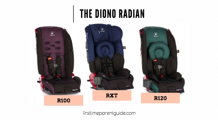 The Diono Radian R100 Vs RXT Vs R120