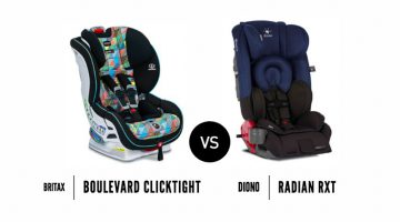 The Britax Boulevard Clicktight Or Diono Radian RXT?