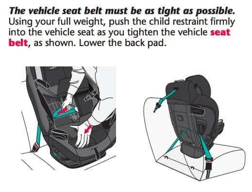 How To Install The Evenflo Everystage DLX Forward-Facing With Seat Belt