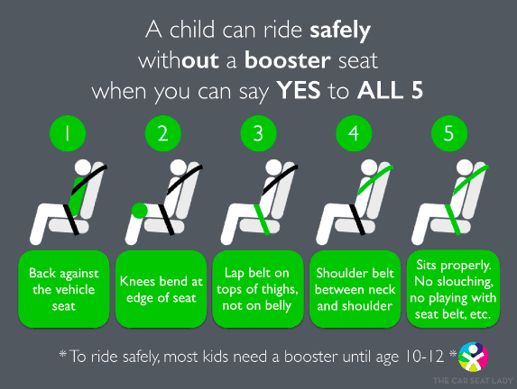 Ready to graduate from the booster seat?